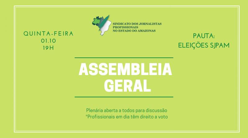 SJPAM convoca profissionais para Assembleia que dará início ao processo eleitoral para nova diretoria da entidade