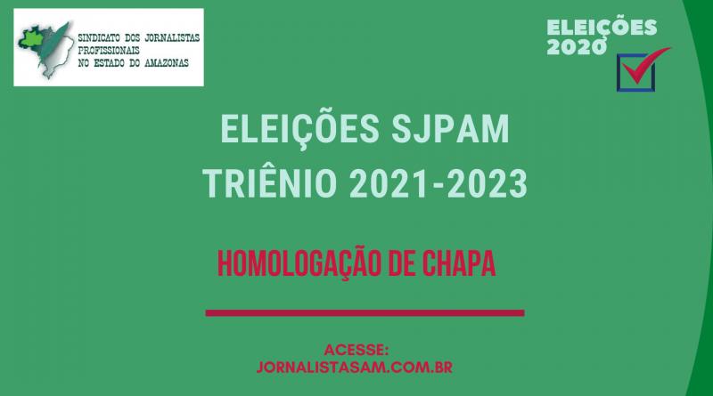 Comissão Eleitoral homologa inscrição de chapa única candidata ao SJPAM