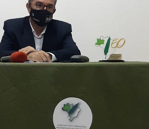 Nova diretoria do Sindicato dos Jornalistas Profissionais no Estado do AM tomou posse virtualmente nessa sexta-feira (8)